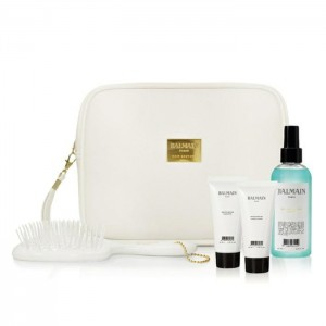 Biała kosmetyczka Balmain Hair, White Summer Bag Care Styling Collection