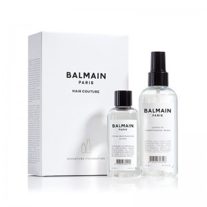 Zestaw Signature Foundation Balmain Hair, Argan Elixir i odżywka Leave-in Conditioner